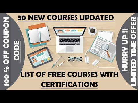 List of Free Online Courses and Certification 2021 | Limited Time ...