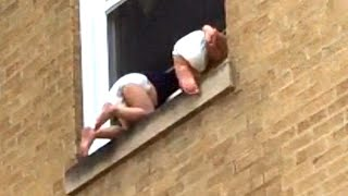 Strangers Pitch In to Save Toddlers Dangling Out Chicago Window