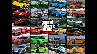 GTA 5 Online   All Supercars Names In Real Life