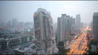 Смотреть онлайн Как выглядит обычный снос небоскреба с помощью бомб
