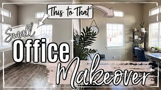 SMALL OFFICE MAKEOVER 2020 :: EXTREME BEFORE & AFTER ROOM TRANSFORMATION | OFFICE DECOR FOR HIM