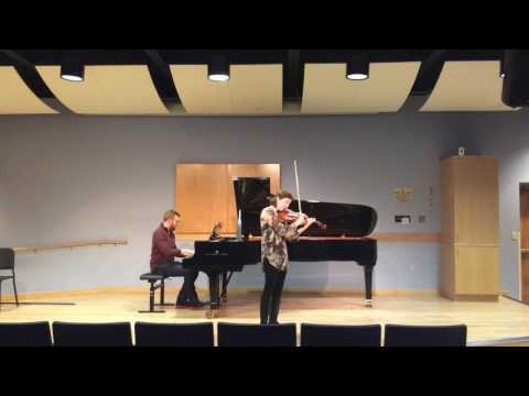 Performing Ravel's Tzigane with pianist Andrew Packard.