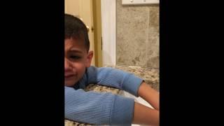 Nutella Poop Prank on 4 year old son. HILARIOUS!