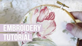 How I Back My Embroidery Hoops
