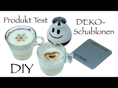 Cappuccino Dekorieren DIY aerolatte Deko Schablonen im Produkt Test