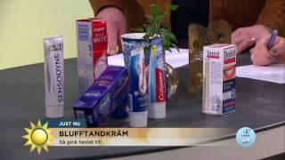 Blir Tänderna Vitare Av Tandkräm? Råd & Rön Testade - Nyhetsmorgon (TV4)
