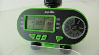 Таймер полива Aqualin 21060 двухзонный с цифровым управлением