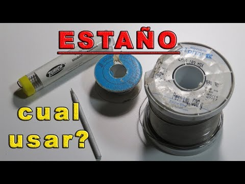 QUE ESTAÑO USAR PARA SOLDAR