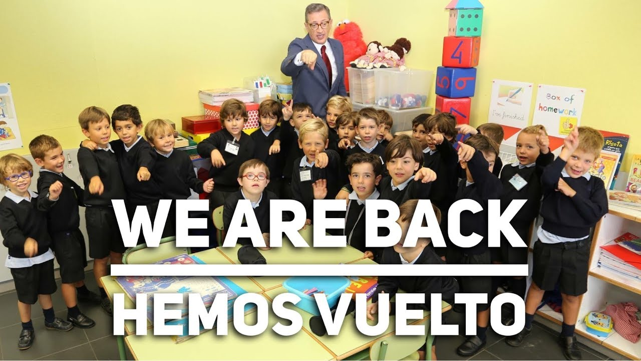 We are back. Hemos vuelto.
