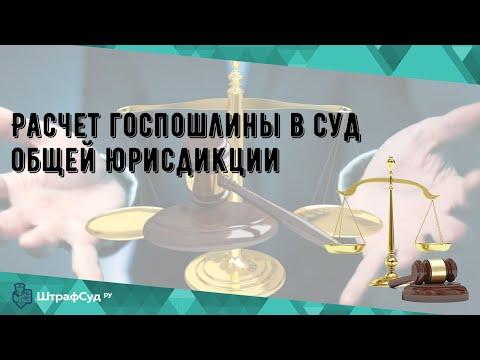 Расчет госпошлины в суд общей юрисдикции