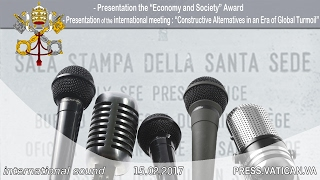 "2017.02.15  - ""Economy and Society"" Award & ""Constructive Alternatives in an Era of Global Turmoil"""