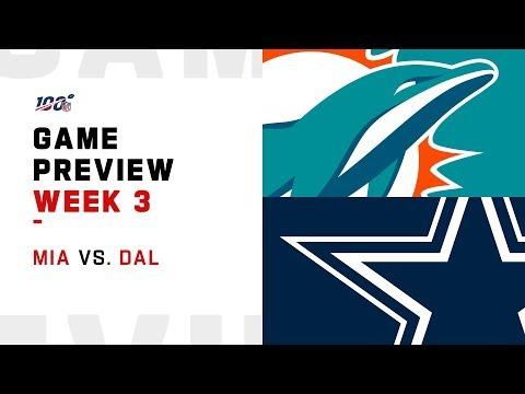 Miami Dolphins vs. Dallas Cowboys Week 3 Game Preivew