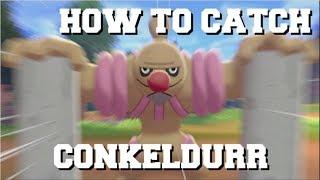 Gurdurr  - (Pokémon) - HOW TO CATCH CONKELDURR IN POKEMON SWORD AND SHIELD GUIDE!