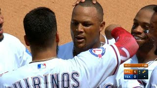 Beltre's 3K day not enough vs. Orioles