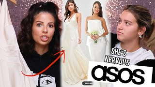 WE TRIED ON ASOS WEDDING DRESSES & SPENT $1,300