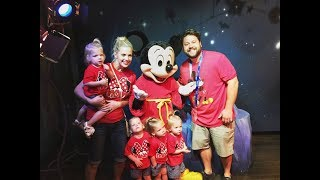 QUADRUPLETS MEET MICKEY MOUSE FOR THE FIRST TIME
