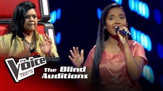 Sakuni Ishara   Goron Ki Na Kalon Ki   Blind Auditions   The Voice Teens Sri Lanka