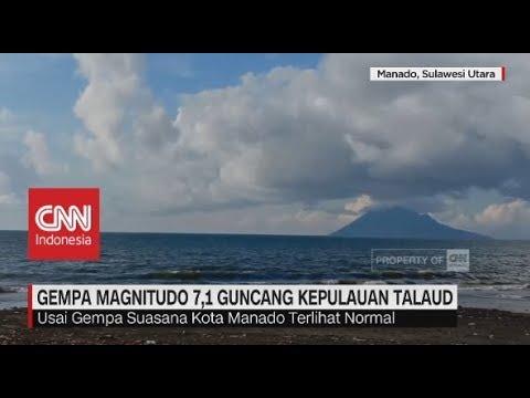 Gempa Magnitudo 7,1 Guncang Kepulauan Talaud, Sulawesi Utara
