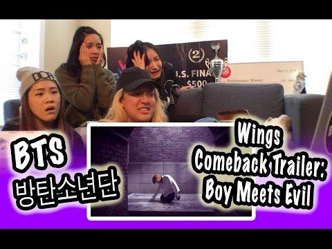 [KPOP REACTION] BTS 방탄소년단 -- WINGS COMEBACK TRAILER : BOY MEETS EVIL (видео)