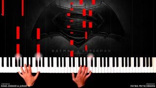 Hans Zimmer & Junkie XL - Batman v Superman - Beautiful Lie (Piano Version) + Sheet Music