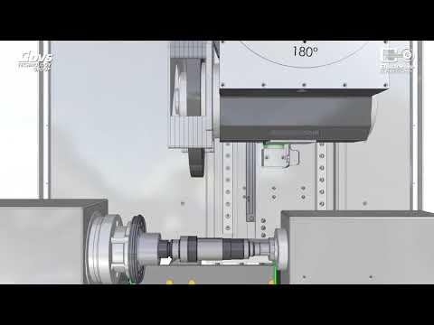 Grinding and turning of e-drive and gear shafts on DVS UGrind