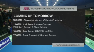 Just. 2019 World Indoor Bowls Championships: Day 11 Session 4