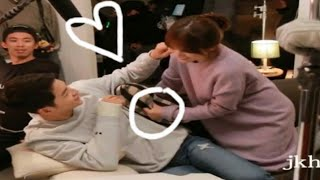 Song joong ki & Song hye kyu Some Romantic Moments Behind The Scenes #Descended of the son #Dots