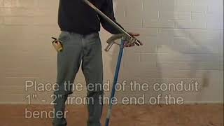 Bending Conduit With a Hand Bender - Box Offset