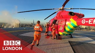 Flying with London's air ambulance - BBC London