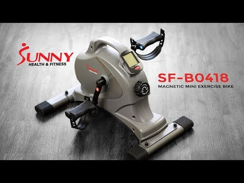 Sunny Health & Fitness SF B0418 Magnetic Mini Exercise Bike