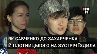 Як Савченко до Захарченка й Плотницького на зустріч їздила