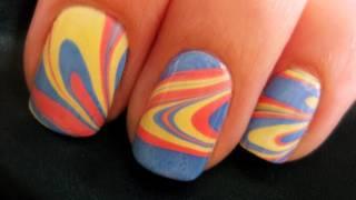 Маникюр и педикюр, Water Marble Nail Art
