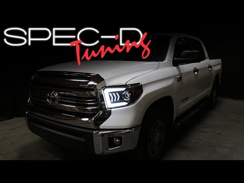SPECDTUNING INSTALLATION VIDEO: 2014-2018 TOYOTA TUNDRA SEQUENTIAL TURN SIGNAL PROJECTOR HEADLIGHTS Mp3