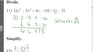 Honors PreCalc: Algebra Fundamentals (part 1)