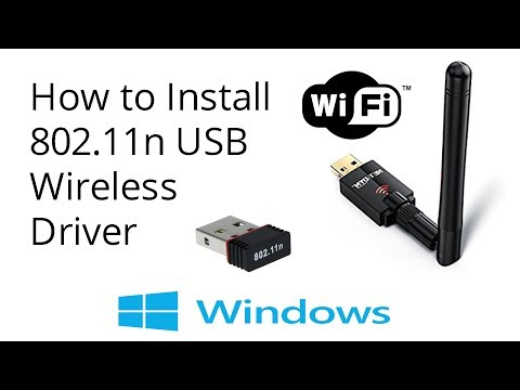 How to Install 802.11n USB Wireless Driver