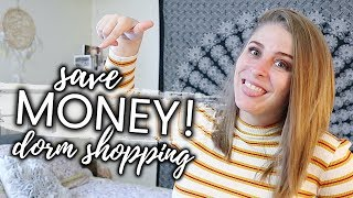 WATCH THIS BEFORE DORM SHOPPING!! 💰🛍 Money Saving Hacks For Your College Dorm! | My Drifting Desk
