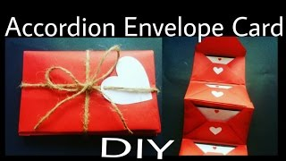 Accordion Envelope Card | DIY | Valentine's Day Special