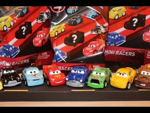 Mattel Disney Cars 3 Mini Racers Blind Bags McQueen, Chick, Doc, Cal Weathers, Cruz Die-casts