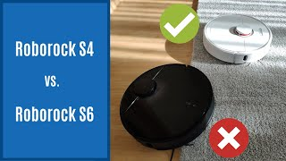 Roborock S6 vs S4 Side-by-side Comparison