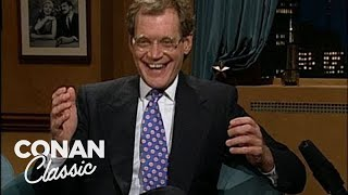 "David Letterman On ""Late Night With Conan O'Brien"" 02/28/94"