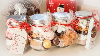 4 HOT COCOA IN-A-JAR FLAVORS (EDIBLE GIFTS)