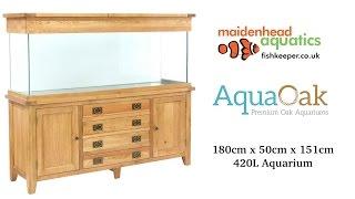 Aqua Oak 180cm 'Doors & Drawers' Aquarium and Cabinet (AQ180DD)