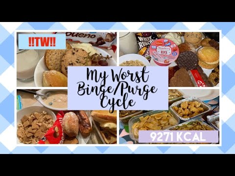 [!!TW!!] My worst binge/purge cycle //9271kcal//
