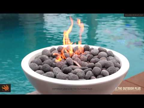 How to install a natural gas match light fire pit
