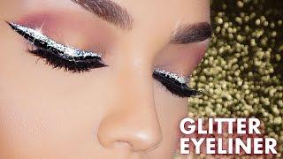 HOW TO: Easy Glitter Winged Eyeliner Makeup Tutorial | Beginners Glitter Liner