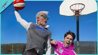 I got DUNKED ON by an OLD MAN! *Real Life Uncle Drew?*