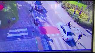 Wideo: Potrącenie na przejeździe dla rowerzystów w Lubinie