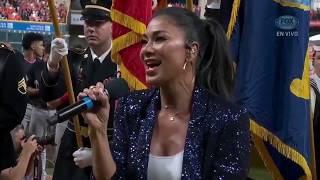 Nicole Scherzinger - National Anthem at the WorldSeries