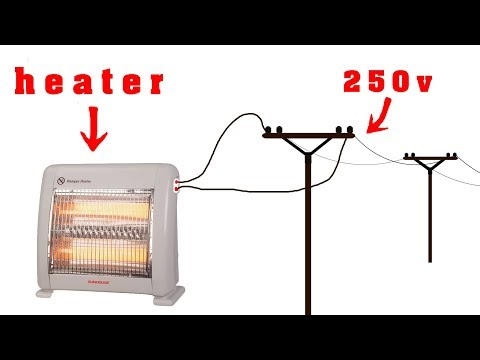 How to turn a heater into a 250v generator