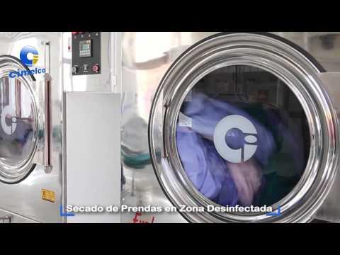 Lavadoras industriales para hospitales . Equipos de lavanderia